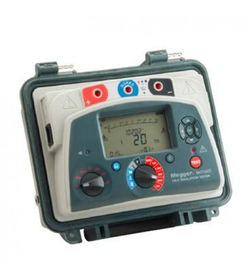MIT1025-UK Insulation Tester 10kV IRT, IR, IR(t), DAR, PI, DD, SV, Ramp, USB, UK plug 1001-943 Megger